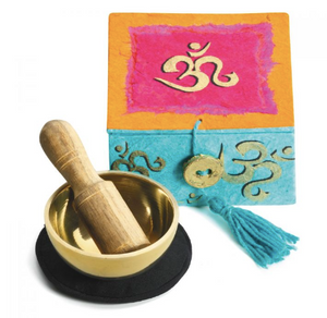 "Om Mini Meditation Bowl 2"" With Gift Box"
