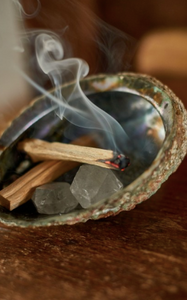 Sacred Smudge Set w/ Sage, Palo Santo & Selenite Stick