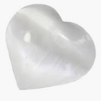 Selenite Puffy Heart Small