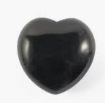 Black Tourmaline Puffy Heart