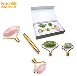 2 in 1 Rose Quartz & Jade Face Roller