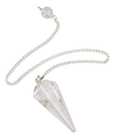 Clear Quartz Crystal Pendulum