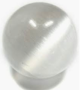 Polished Selenite Cat's Eye Sphere