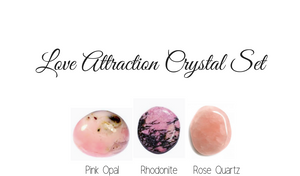 Love Attraction Crystal Set- Crystal Healing Self Love