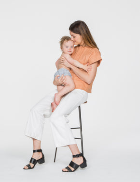Chapter Goods | Breastfeeding-Friendly Clothes | Box Top in Terracotta (Terracotta Linen)