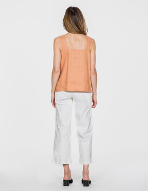 Chapter Goods | Breastfeeding-Friendly Clothes | Apron Top in Terracotta (Terracotta Linen)