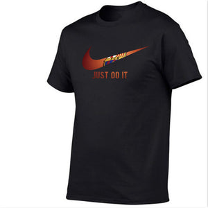 just do it Print tops funny Short sleeve t-shirt men Cotton tee
