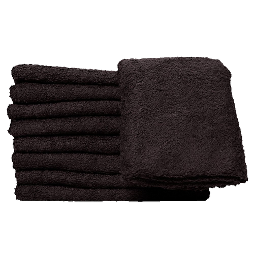 Black Cotton Beard Steaming Towel