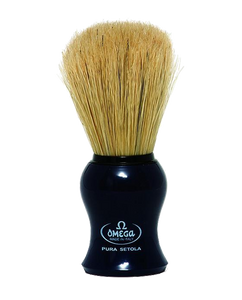 BOAR BRISTLE SHAVING BRUSH, BLACK