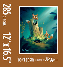 Fine Art Puzzles by Rob Kaz - Don't Be Shy, 285 pieces