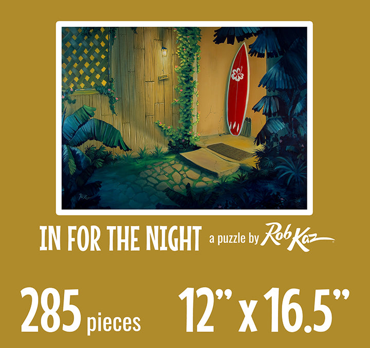 Fine Art Puzzles by Rob Kaz - In For The Night, 285 pieces
