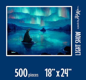 Fine Art Puzzles by Rob Kaz - Light Show, 500 pieces