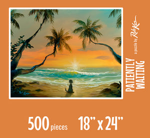 Fine Art Puzzles by Rob Kaz - Patiently Waiting, 500 pieces