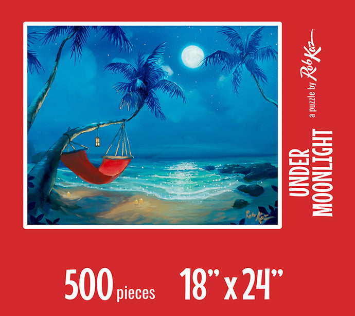 Fine Art Puzzles by Rob Kaz - Under Moonlight, 500 pieces