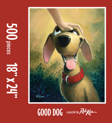 Fine Art Puzzles by Rob Kaz - Good Dog, 500 pieces