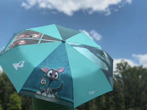 Rainy Day Travel Umbrella by Rob Kaz