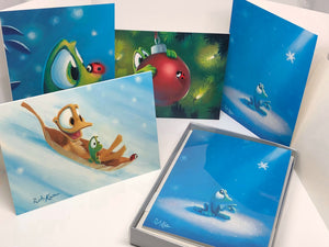 Holiday Cards by Rob Kaz, set of 12