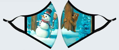 Face Mask - Snowman Meets Bear, Holiday