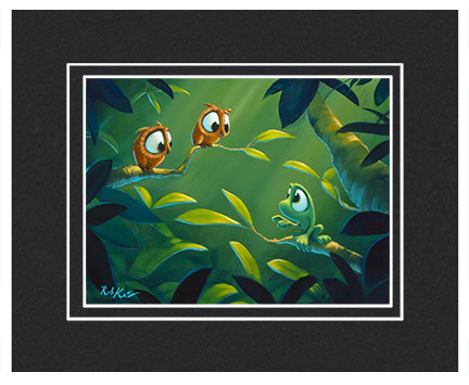 Couple Of Hoots - Matted Print, 11x14