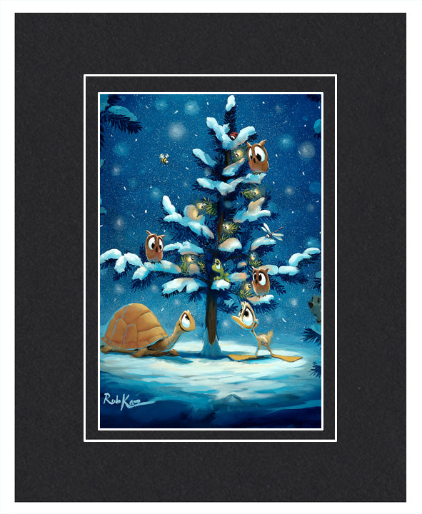 Festive Friends - Matted Print, 11x14