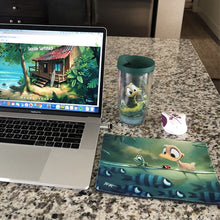 Mousepad featuring art by Rob Kaz - My Little Blue Buddies