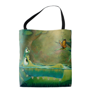 Rob Kaz Design Your Own Tote Bag, pick 2 paintings by Rob Kaz
