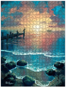 Fine Art Puzzles by Rob Kaz - Sunset On A Good Day, 500 pieces