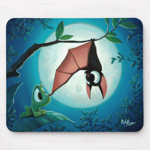 Mousepad featuring art by Rob Kaz - Bat Boop