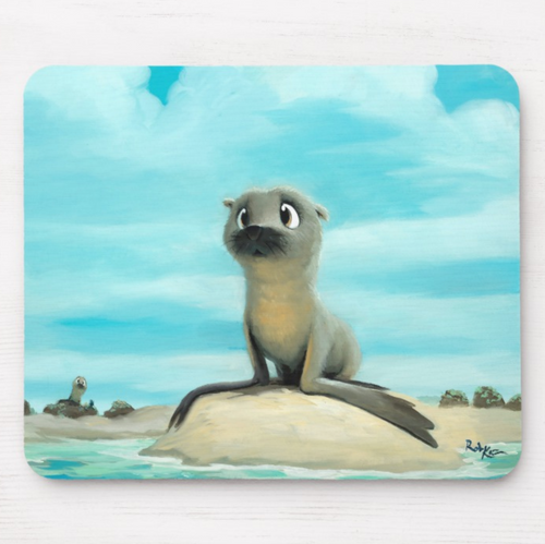 Mousepad featuring art by Rob Kaz - Pepper