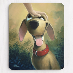 Mousepad featuring art by Rob Kaz - Good Dog