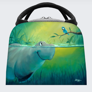 Insulated Lunch Bag - Gray And Blue