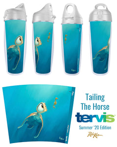 Summer '20 Tervis Tumbler, Tailing The Horse by artist Rob Kaz