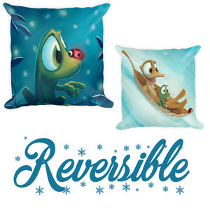 Reversible 2-Image Holiday Throw Pillow by Rob Kaz