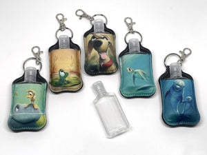 Hand Sanitizer Holder with refillable bottle