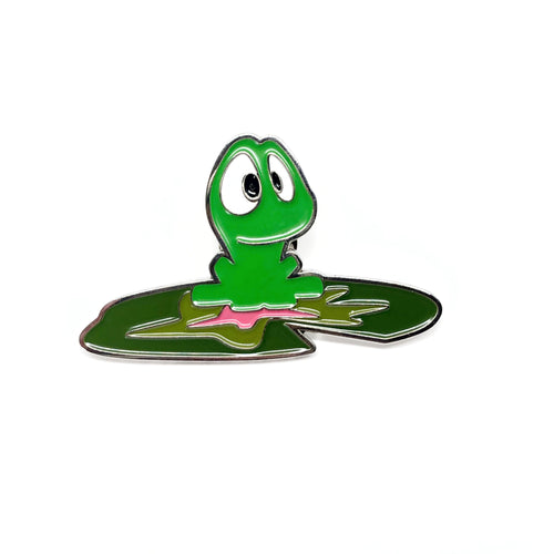 Beau on lily pad, PIN