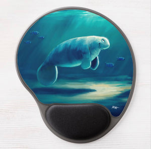Gel Mousepads by Rob Kaz - Curious Manatee
