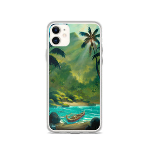 iPhone Case featuring Guarding The Outrigger by Rob Kaz
