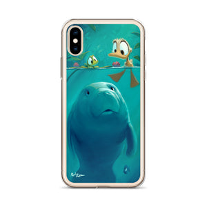 iPhone Case featuring Curious Sea Cow by Rob Kaz