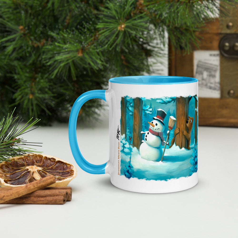 Recipes & Art Mugs: Snowman Meets Bear, Hot Chocolate