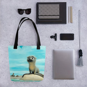 Pepper the baby seal Tote bag by Rob Kaz