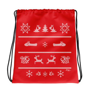 Christmas drawstring bag with Friends Along The Wy