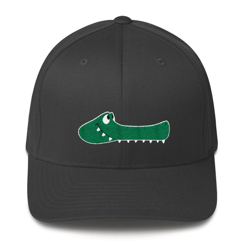 Flexfit Structured Twill Cap with Toothpick the Gator by Rob Kaz