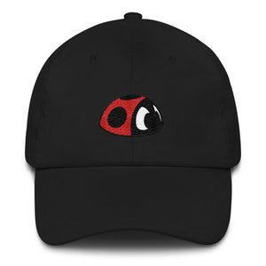 Red the ladybug by Rob Kaz, unstructured cap (more colors)