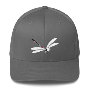 Flexfit Structured Twill Cap with Lily the Dragonfly by Rob Kaz