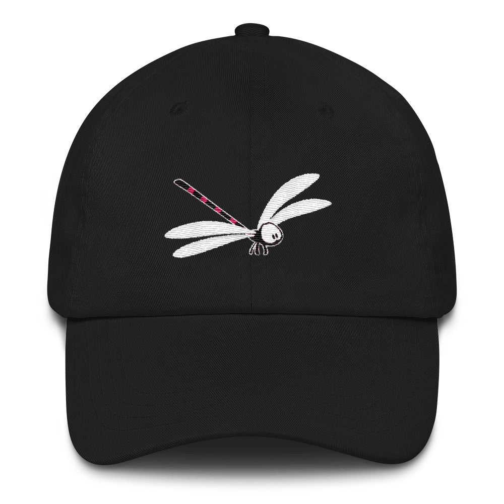 Lily the Dragonfly by Rob Kaz, unstructured cap