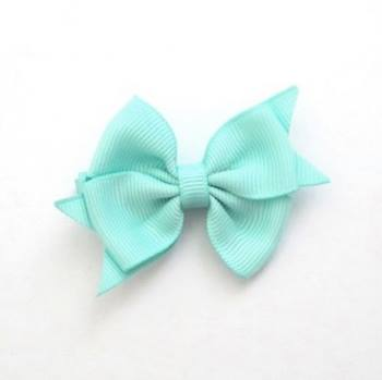 Celestina & Co. Petite Signature Bow Aqua Blue