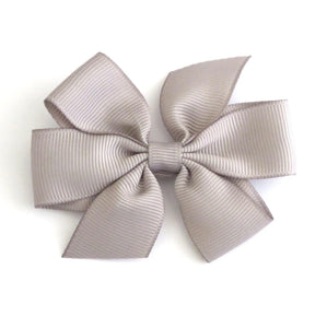 Celestina & Co. Medium Signature Bows Silver Grey