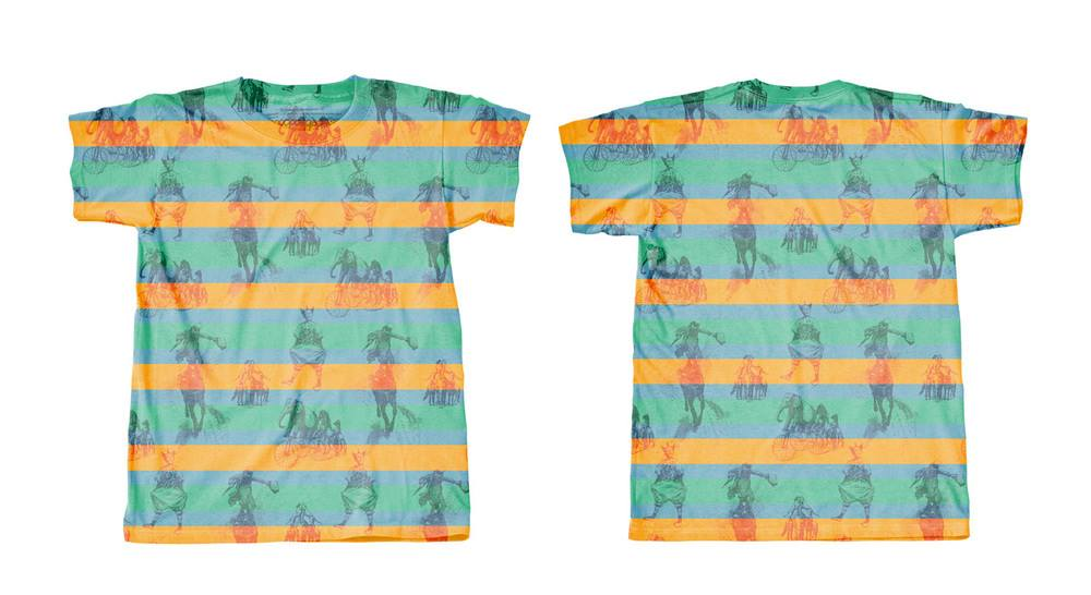 Googoo and Gaga Mens Tees Circus Pattern