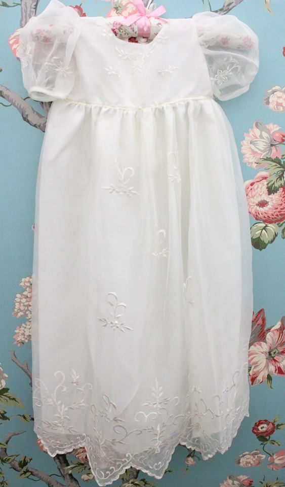 Penelope Baptismal Gowns Embroided Ecru Organza