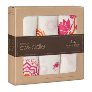 Aden+Anais Bamboo Swaddle Pyra - 3 Pack